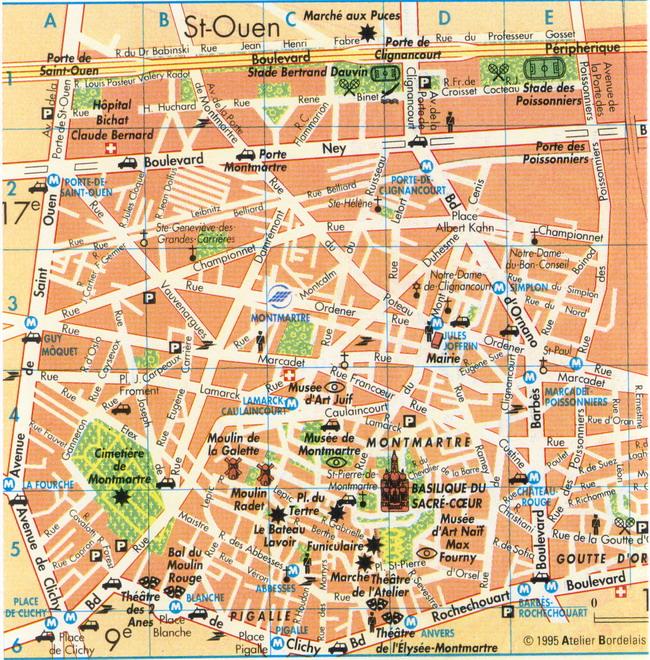 Cartina Itinerario Barcellona.Parigi Itinerari Su Due Piedi Viaggi E Vacanze