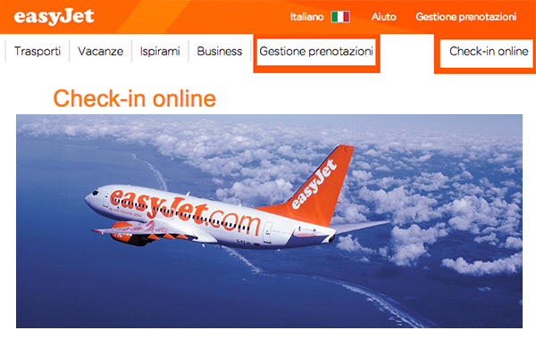 Check in online Easyjet