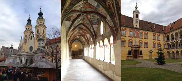 Il Duomo, il chiostro e il Palazzo vescovile di Bressanone