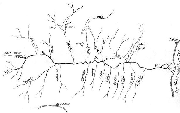 Fiume Po Lunghezza Affluenti Cartina E Altre Informazioni