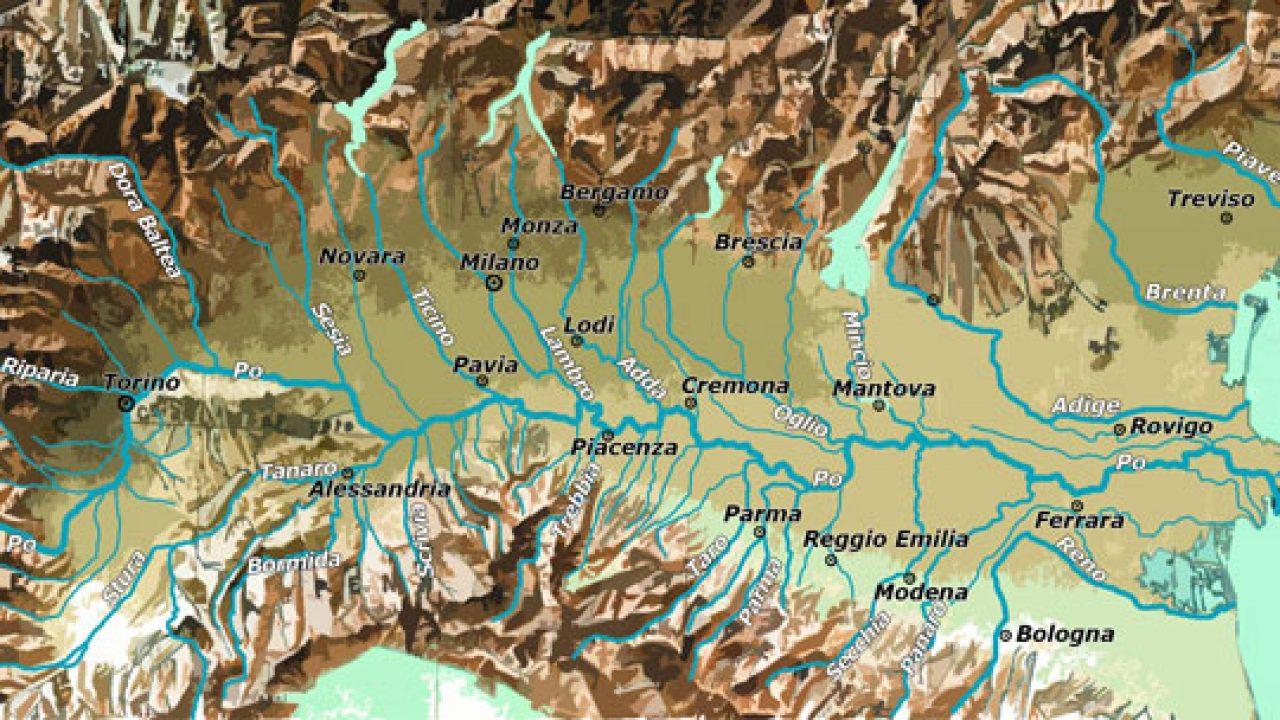 Bologna Cartina Geografica.Pianura Padana Cartina Fisica E Cartina Politica Viaggi E Vacanze