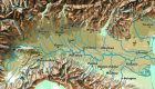Cartina fisica della Pianura Padana