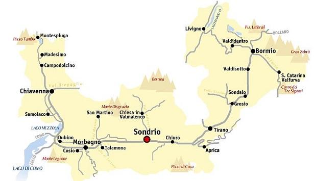 Città di Sondrio: come arrivareCittà di Sondrio: come arrivare