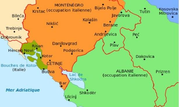 Cattaro. Montenegro: mappa